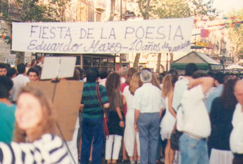 10 AÑOS DE POESÍA EN LAS RAMBLAS (sin numerar) 1990
