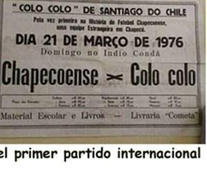 EL PRIMER PARTIDO INTERNACIONAL