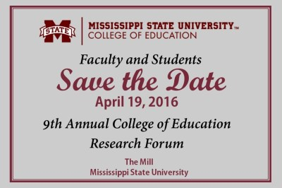 College of Education Research Forum | College of Education