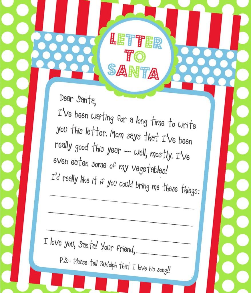 A Letter To Santa Template: Carta A Santa Claus: Consejos E Imprimibles