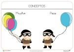 Fichas para trabajar conceptos: Muchos Pocos