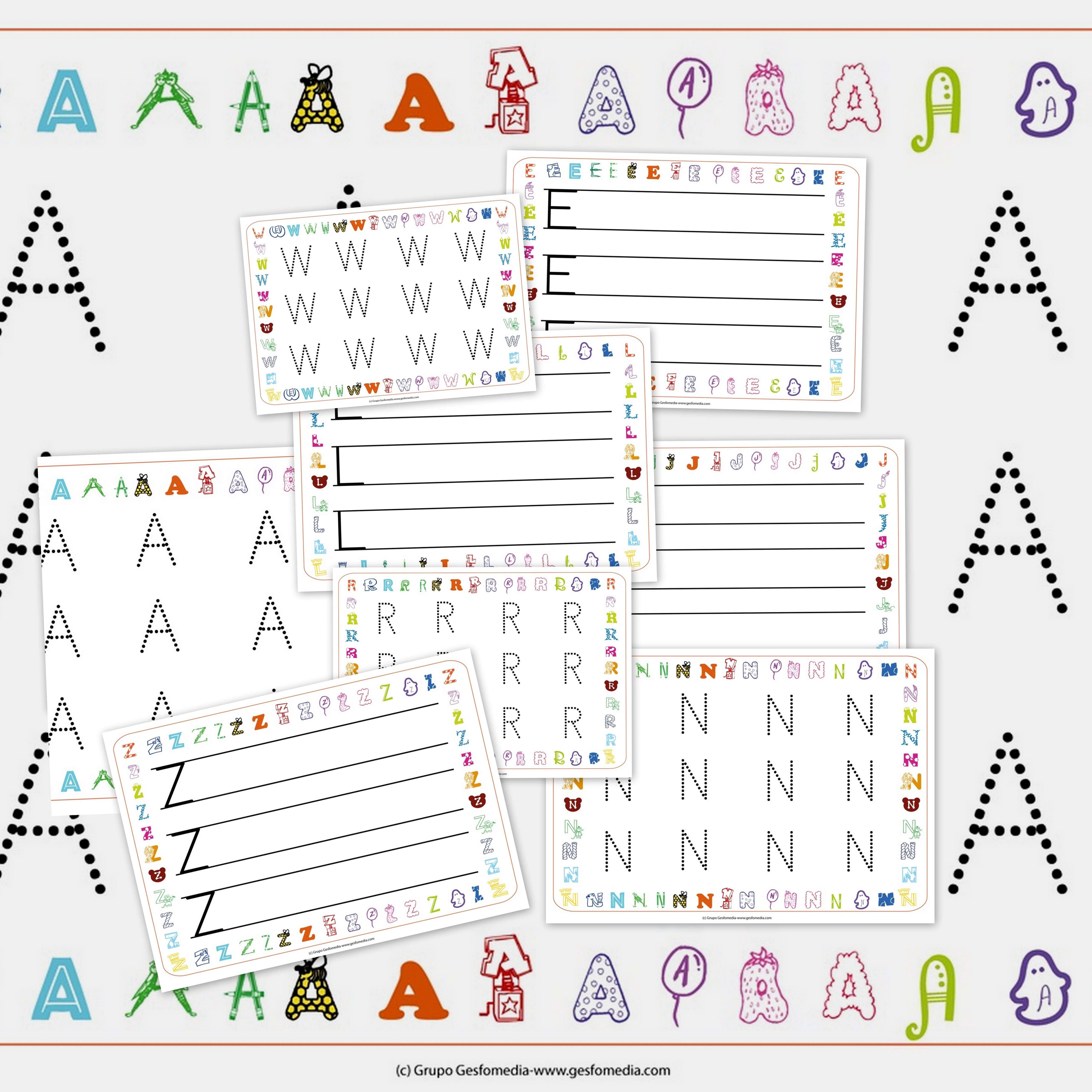 Fichas De Caligrafia Para Ni Os El Abecedario Colorear Letra J