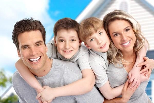 niños y su familia
