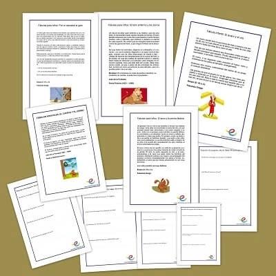 Actividades de comprensión lectora. Fábulas y leyendas