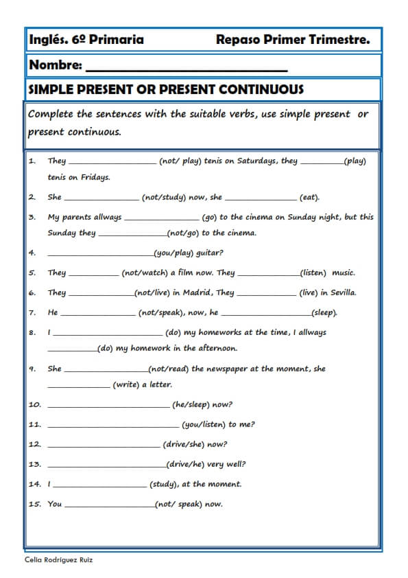 ejercicios repaso 1 eso ingles pdf