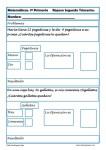 Fichas de Matemáticas Primero Primaria. 2ª Evaluación