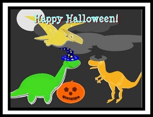 Cuento infantil: Un halloween entre dinosaurios