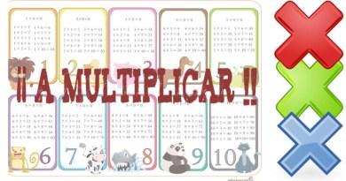 ¡¡ A Multiplicar !! Fichas multiplicación en primaria
