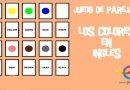 Colores en inglés. Juego de memoria