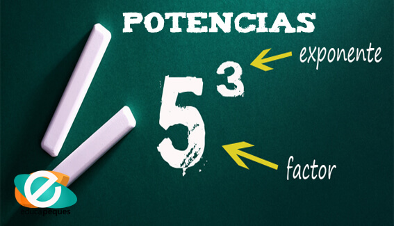 Potencias. Ejercicios matemáticas sexto de primaria