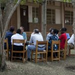 """The """"Outside Focus Group"""" gave Daniel and Pedro insights into what they wanted in a university in Karagwe"""