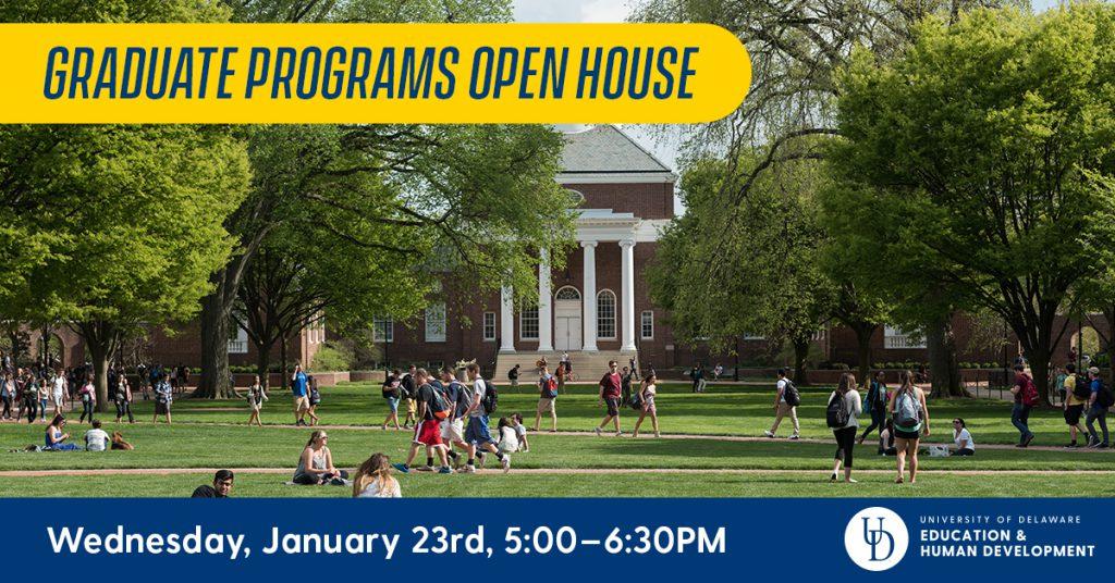 CEHD Graduate Programs Open House January 23 - School of Education