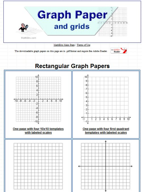 10 Sites to Print Different Graph Paper for Your Projects - graphing paper printable template