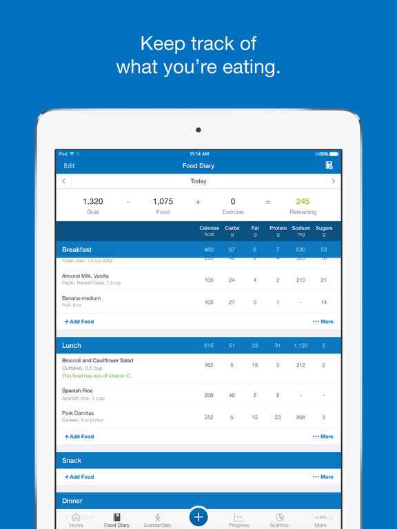 Calorie Counter  Diet Tracker by MyFitnessPal Review Educational - diet and exercise tracker