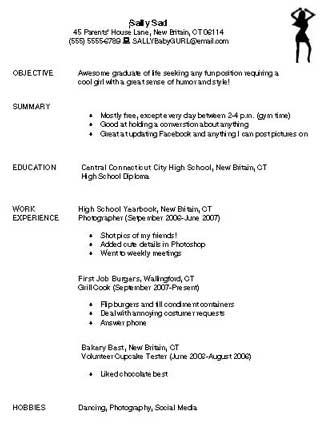 Bad Resume Education World - high school graduate resume samples