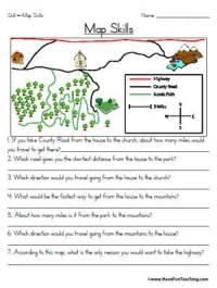 Map Skills Worksheet | Education World