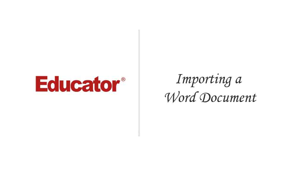 34 Importing a Word Document Adobe Dreamweaver CC Educator