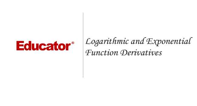 19 Logarithmic and Exponential Function Derivatives College