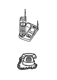 Antiguo Telfono Para Colorear