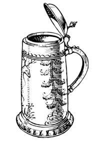 Disegno da colorare caraffa di birra - Cat. 18940.
