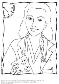 Disegno da colorare dottore - Cat. 12182.