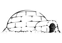 Disegno da colorare iglo - Cat. 10197.