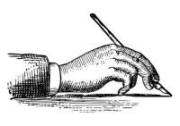 Disegno da colorare impugnare una penna - Cat. 27853.