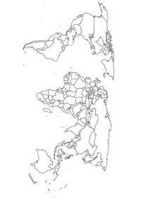 Mappamondo Colorato Da Stampare