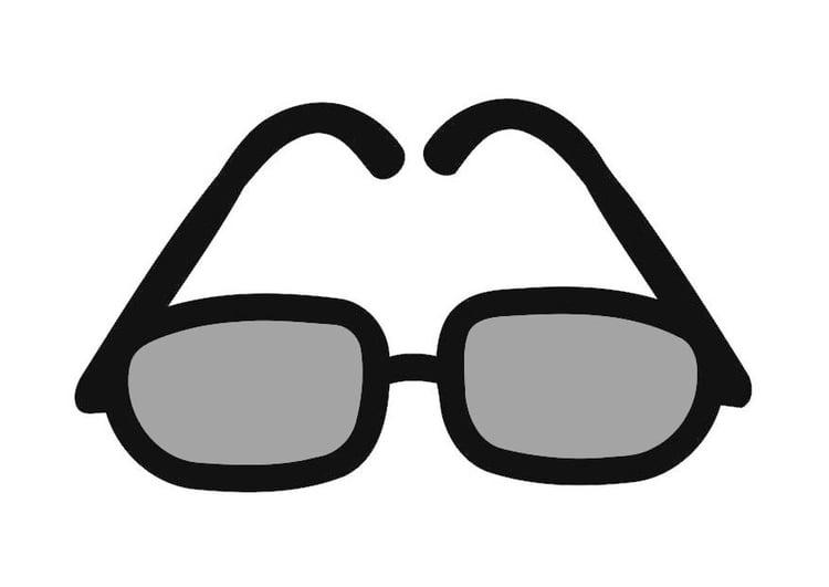 Disegno Da Colorare Occhiali Da Sole