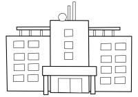Disegno da colorare ospedale - Cat. 22477.