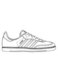 Disegno da colorare scarpa da ginnastica - Cat. 29484.