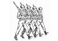Disegno da colorare soldati - Cat. 12907.