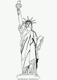 Disegno da colorare Statua della Libert