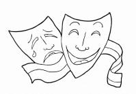 Disegno da colorare teatro - musical - Cat. 14918.
