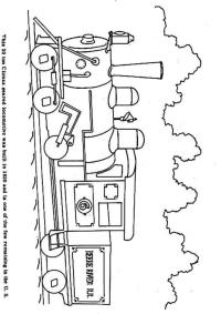 Disegno da colorare treno a vapore