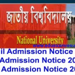 NU PhD M.Phil Advance MBA Program Admission Notice 2016