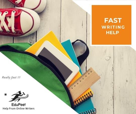 Fast Essay Writing Help from Freelance Writers EduPeet