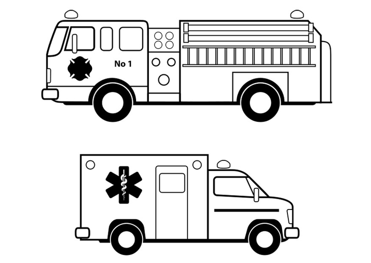 Coloring page emergency services - img 24631