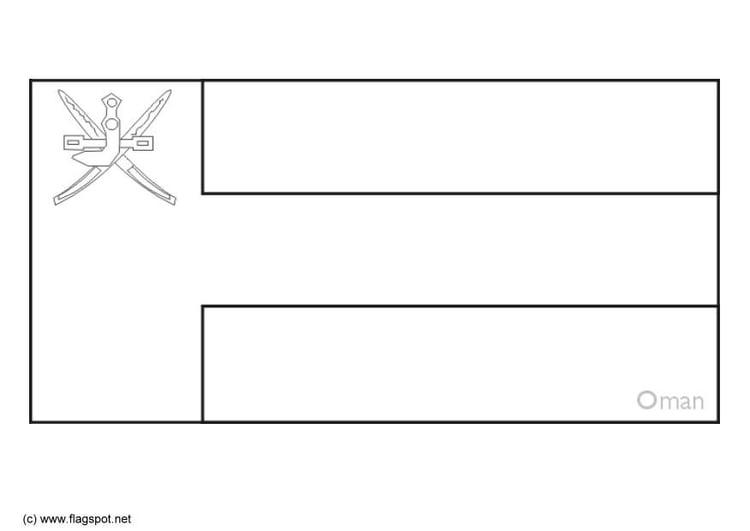 Coloring Page Flag Oman Img 6302 SaveEnlarge