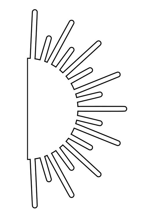 Coloring page sunrise - img 27990