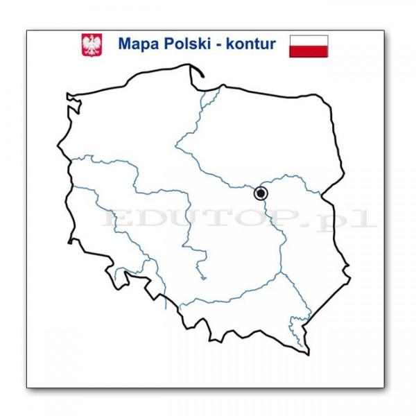 Mapa Polski Konturowa Auto Electrical Wiring Diagram