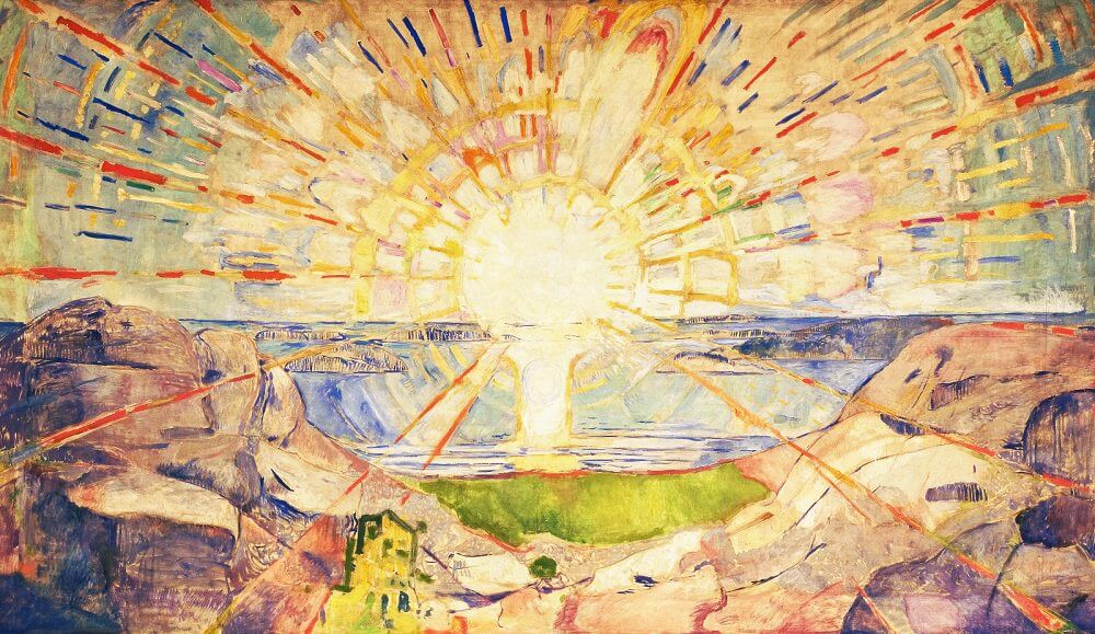 The Yellow Wallpaper Quotes And Analysis The Sun 1909 By Edvard Munch