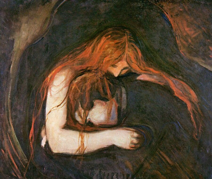 The Yellow Wallpaper Quotes And Analysis Vampire 1893 By Edvard Munch