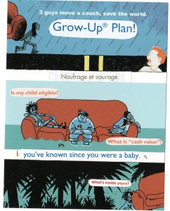 Promo postcard for Benjamin Parzybok's Couch by Andi Watson