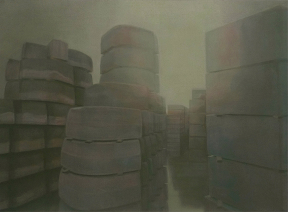 Curbstones, 2009, acrylic on canvas