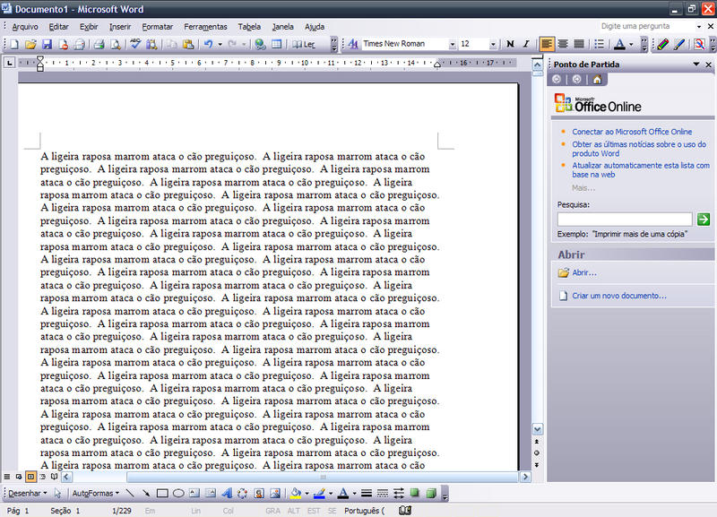 Word (Microsoft) Easter Egg - Typing Exercise