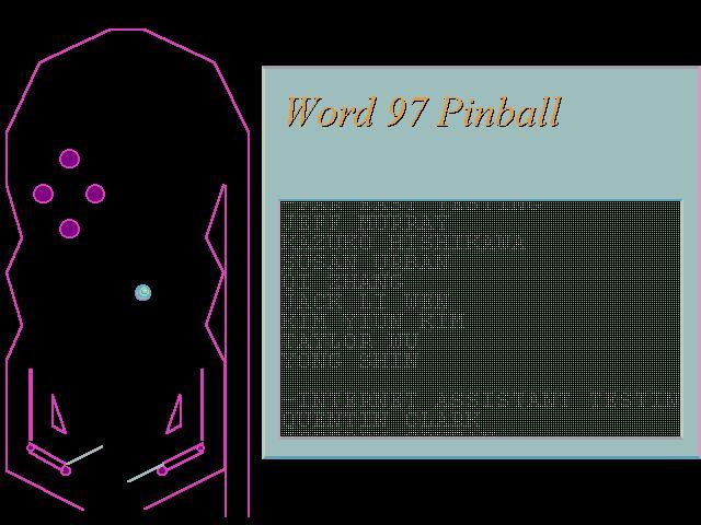 Word (Microsoft) Easter Egg - Pinball in Word 97 - microsoft word easter egg