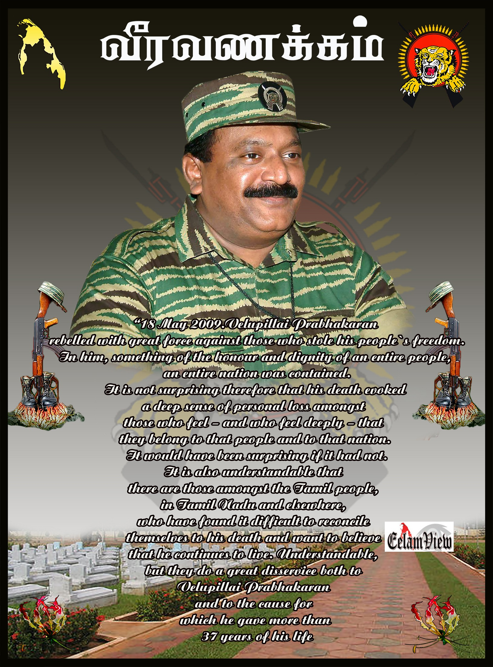 Prabhakaran Hd Wallpapers Hon Velluppillai Prabhakaran Eelamview