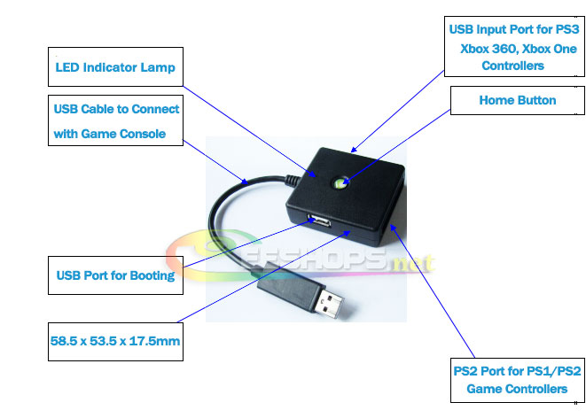 Best New 5-in-1 Wired Controllers GamePad Converter Adapter Adaptor