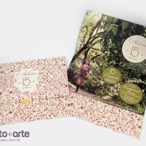 Convite  Joaquina - Papel reciclado